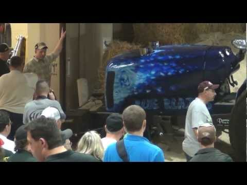 Watch a Pro Stock Tractor Pull The Sled All the Way Through the Building at the 2012 Keystone Nationals