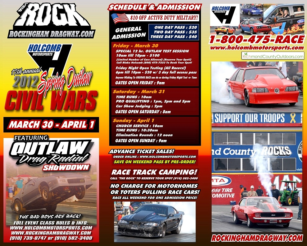 Live Drag Racing This Weekend: DragStory.com to Webcast the 17th Annual Holcomb Civil Wars on MotorManiaTV.com
