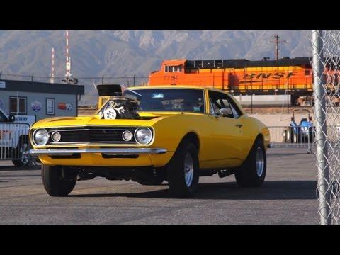 Watch the Crusher Camaro Hit the Strip and Run 10s!