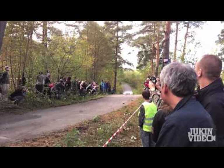 Incredible Video: Watch a Rally Photog Come Inches From Death When a Car Smashes a Tree!