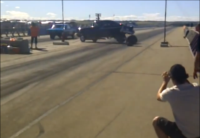 Watch a '57 Chevy Shear The Wheel Studs and Blow a Donut Before Reaching the Christmas Tree