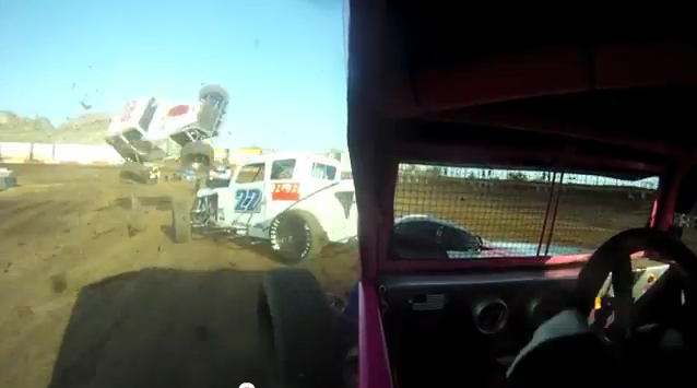 Watch a Dirt Track Dwarf Car Become a Single Seat Stunt Plane – The Landing Sucks