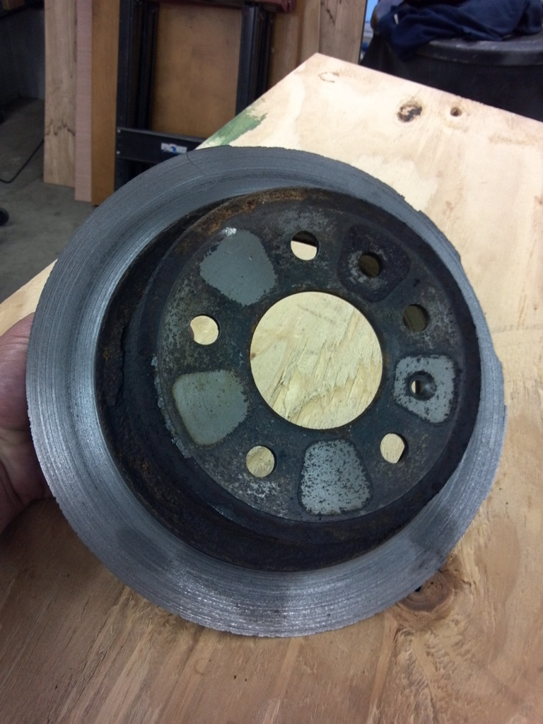 Crazy Photos: The Most Insanely Used Up Brake Rotor in the History of Mankind