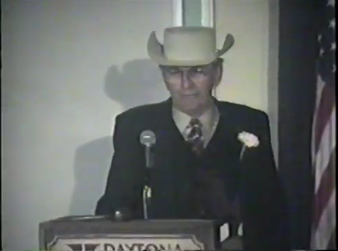 Watch Smokey Yunick Make A Side Splitting Speech From His Induction Into the Daytona Stock Car Racing Hall of Fame