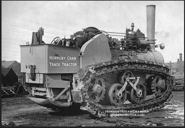 Motorized Freak of the Week: The Hornsby Steam Crawler Tractor