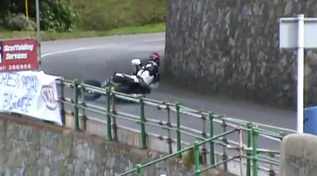 Watch a Motorcycle Racer Crash Out of a Hill Climb Less Than 15 Seconds After Starting