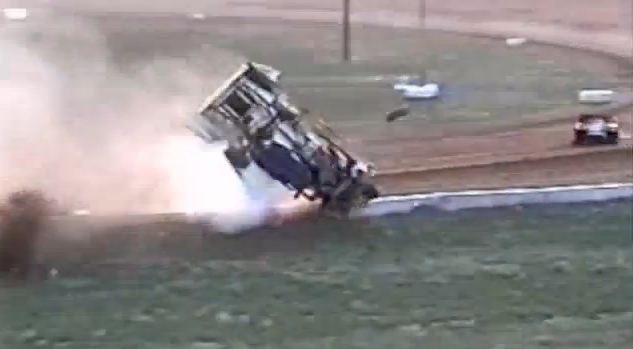 Watch the Most Violent Dirt Modified Crash We Have Ever Seen – Driver OK, Race Car Obliterated
