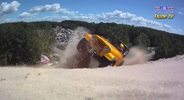 Epic Save Video: Bad Company Jeep Nearly Tumbles To Its Doom On A Wild Hill Climb Pass