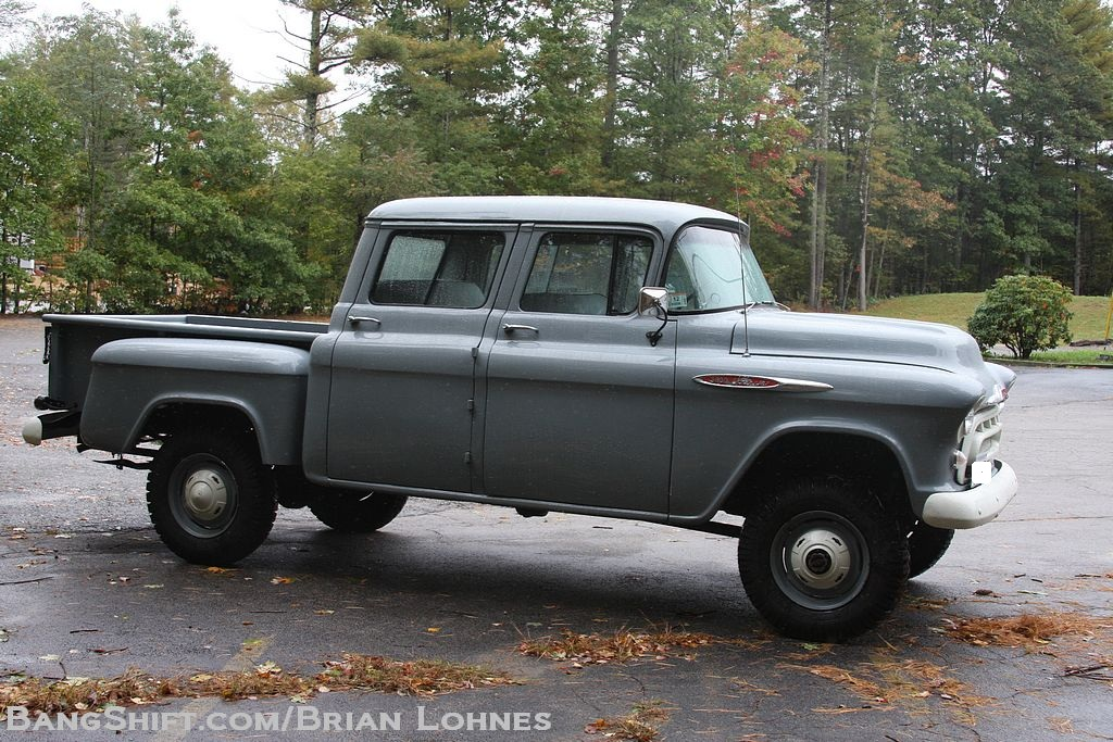 1957 chevy factory orrville crew cab conversion. Black Bedroom Furniture Sets. Home Design Ideas