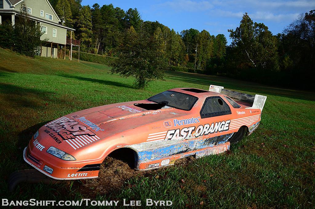roadside find whit bazemore 39 s 1993 fast orange dodge daytona nhra nitro funny car. Black Bedroom Furniture Sets. Home Design Ideas