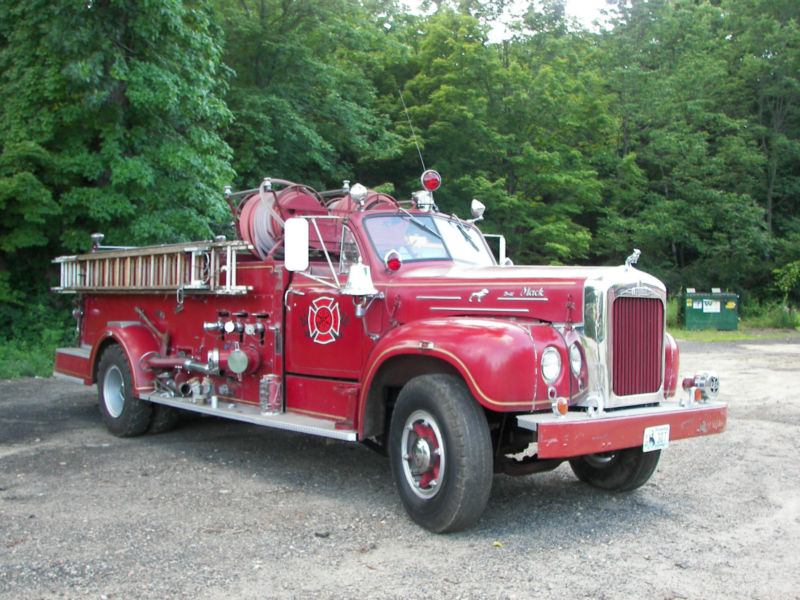 BangShift.com eBay Find: An Ultra Rare 1957 Mack B-21 Fire Truck ...