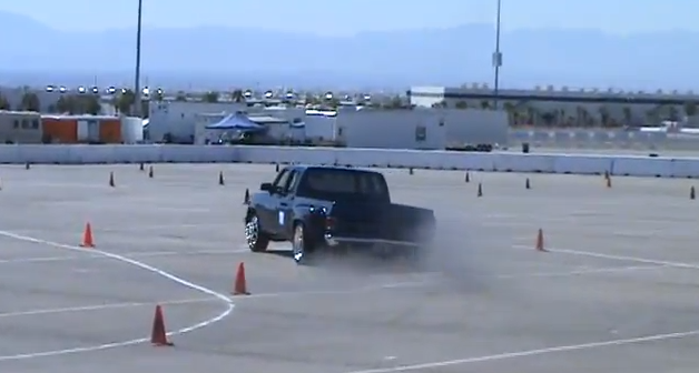 Video: Watch A Huge And High Horsepower Dually Run The Autocross At Super Chevy Las Vegas!