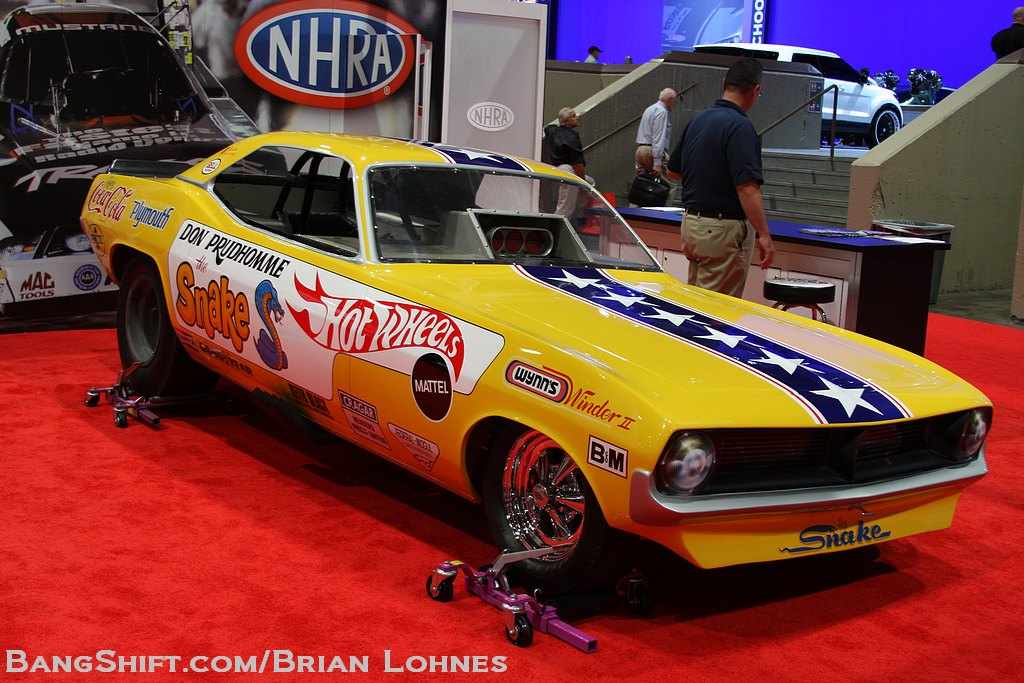 """SEMA 2012 Featurette: Don """"The Snake"""" Prudhomme's 1970 Hot Wheels 'Cuda Funny Car"""
