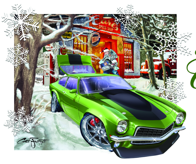 BangShiftcom Cool Christmas Car Art And More Holley And Chris - Cool car art