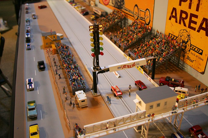 Drag Racing Slot Cars besides 75700 Uber Cool Switches Panels likewise 26468 My Memories Plymouth Shut Down Drag Race Slot Car Set together with Event Photos Lions Drag Strip 40th Reunion At The Nhra Motorsports Museum further Drag Race Track. on slot car drag strip nhra