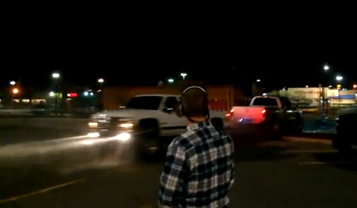 Video: Watch A Lifted Cummins Dodge Pull A Lifted Duramax Chevy Around The Block During A Tug Of War…Literally