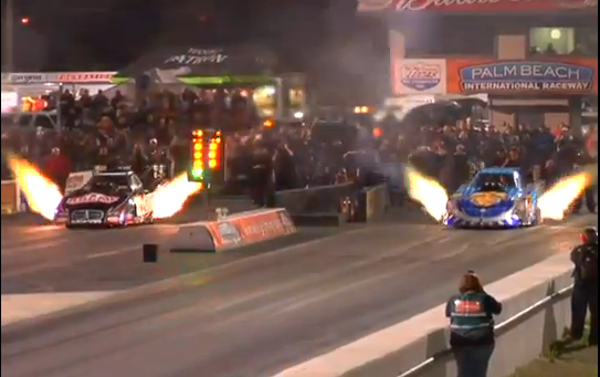 Video Highlights From The 2013 PRO Winter Warmup NHRA Top Fuel And Funny Car Test Session
