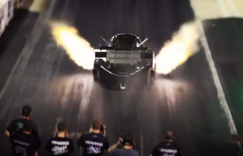 Video: Courtney Force's Worlds Fastest 1000 ft Funny Car Pass From A New Angle