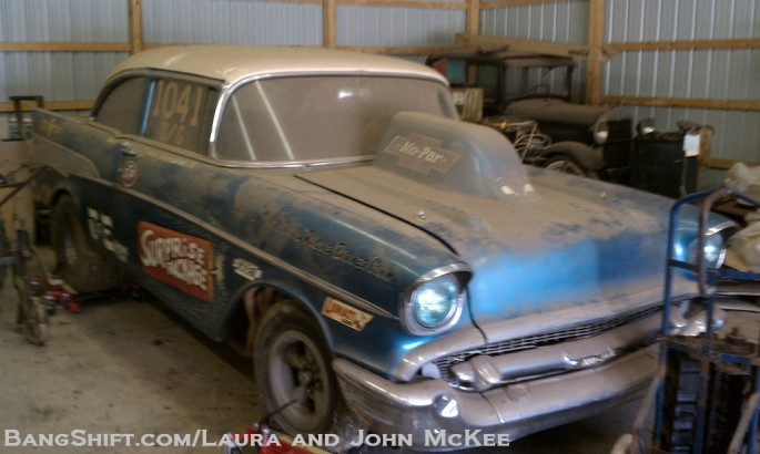 Gasser Barn Find: The Surprise Package 1957 Chevy Bel Air D/Gas ...