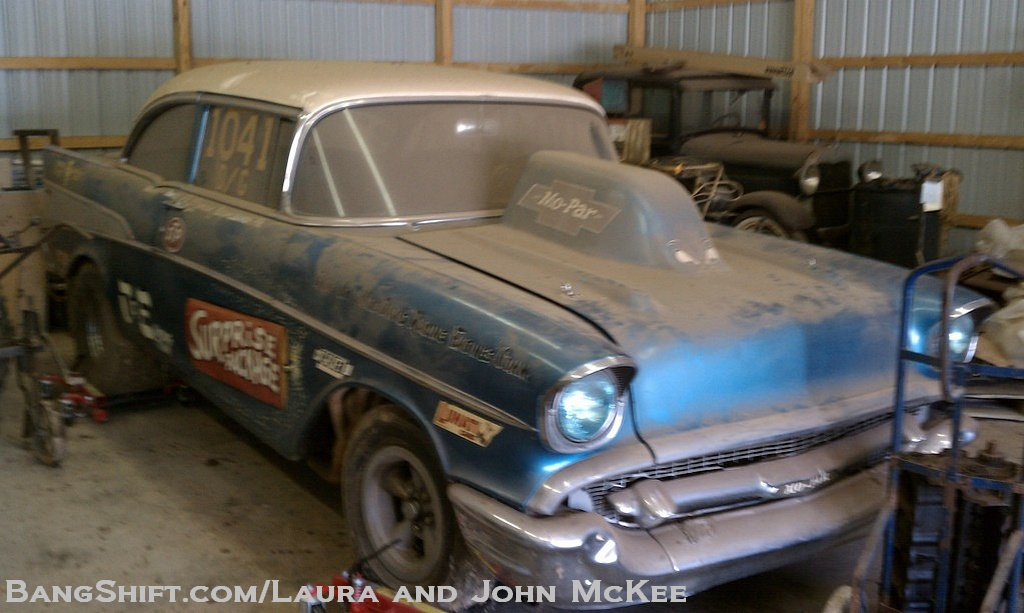 Gasser Barn Find: The Surprise Package 1957 Chevy Bel Air D/Gas – 426 Max Wedge Mopar Power