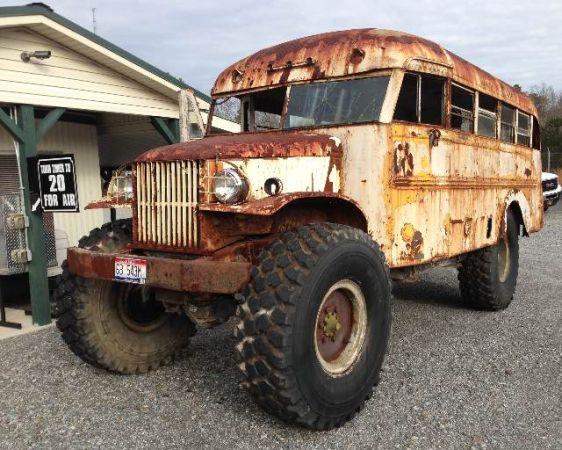 Pulling Trucks For Sale On Craigslist >> BangShift.com Craigslist Find: A 1942 Dodge School Bus Mounted On A Deuce And A Half Frame With ...