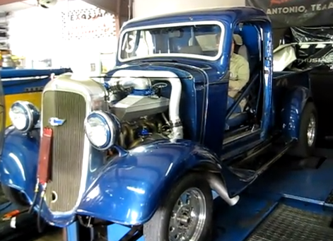 Watch A 1936 Chevy Pickup With A Turbocharged Chevy 292 Inline Six Make Nearly 900-HP At The Tire And Run 160-MPH At The Drags!