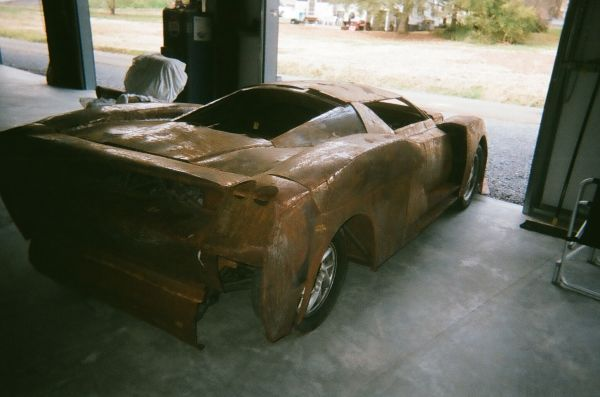 a hand fabricated steel ferrari enzo replica for sale now on craigslist. Black Bedroom Furniture Sets. Home Design Ideas