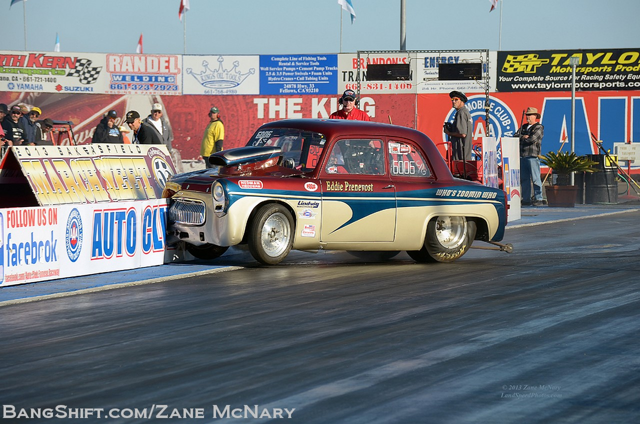 Wreckage Photo Sequence: Eddie Prenevost's Anglia Hits The Wall At The March Meet