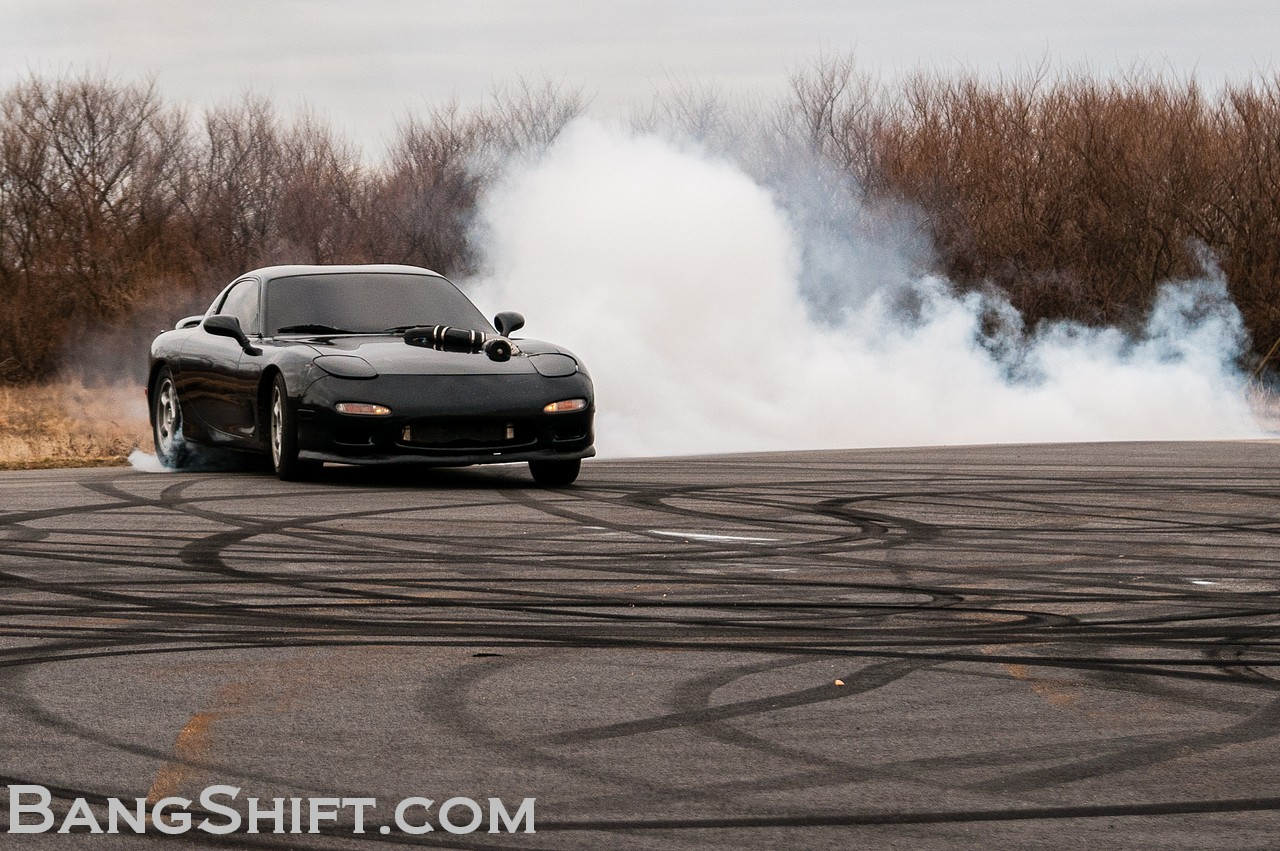 Deathmobile: RX7 With A Blown 383 Chevy That Destroys Tires At 70 And Will Kill You  (w/VIDEO)