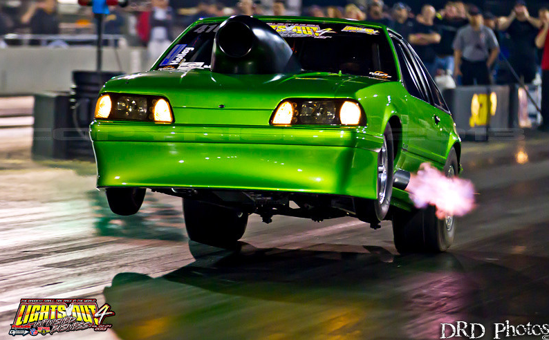 Drag Action Gallery: Wheelstands And Fire Breathing Cars From Lights Out Four By DRD Photos