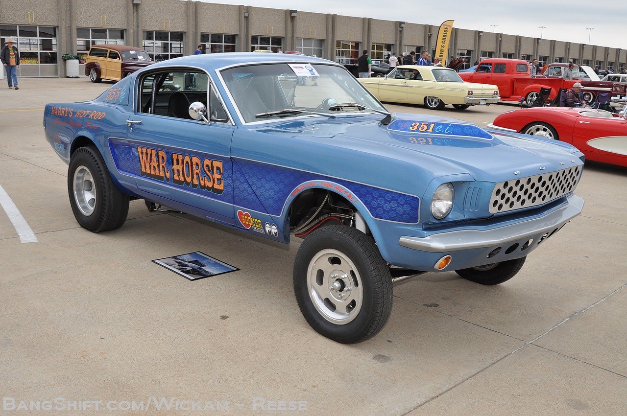 Bangshift Com The War Horse A 1966 Straight Axle Mustang