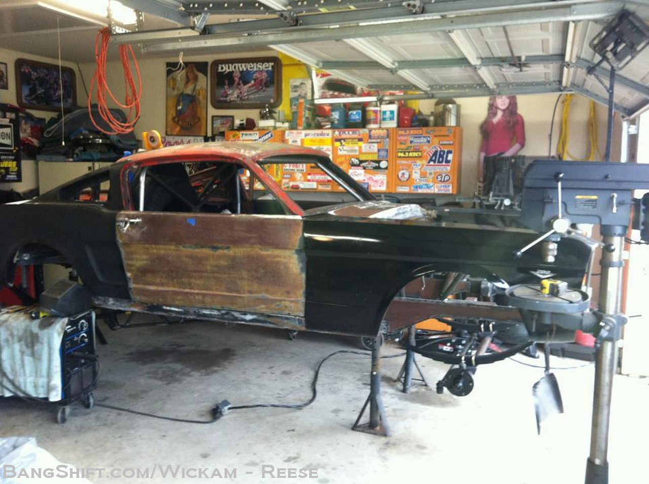 Bangshift Com The War Horse  A 1966 Straight Axle Mustang Fast Back That Punches All The Right