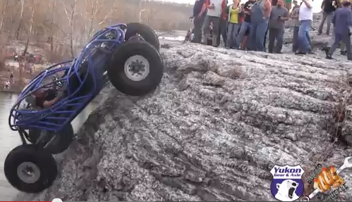 Video: Watch A Rock Buggy Climb A Near Vertical Cliff, Cheat Death, And Actually Make It Over The Top!