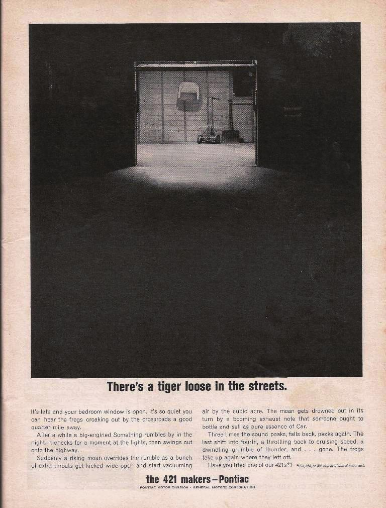 The Greatest Muscle Car Print Ad That You've Probably Never Seen – Pontiac Perfection