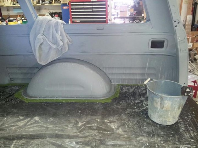 """""""I spent yesterday sanding the rest of the inside, getting ready to paint it. My fingers are worn out, literally. """""""