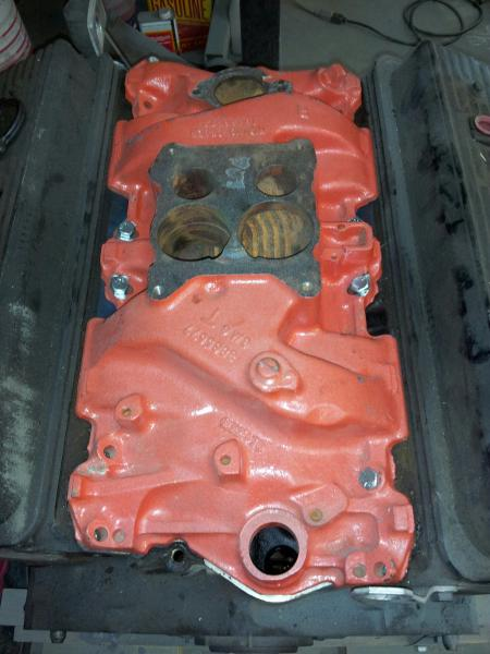 """""""After getting the bolts to fit, I sandblasted it."""""""