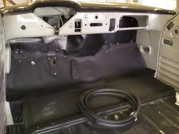 """""""I fibbed...after posting that about getting to work on paint, I got some boxes from the ups truck, and installed a bunch of other parts. Firewall pad, floor mat, gas pedal, headers, cowl seal, door weatherstrip, starter, speedo cable, etc."""""""