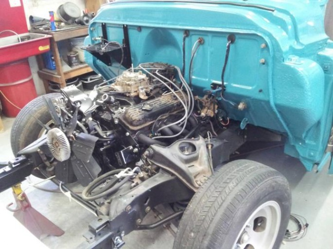 """""""I got a few things done today...in spite of the weather. Finished the front bumper mounts. The subframe is kind of in the way of the bolt holes for the end braces, so I did some cutting and welding and put some bolts on to hold them."""""""