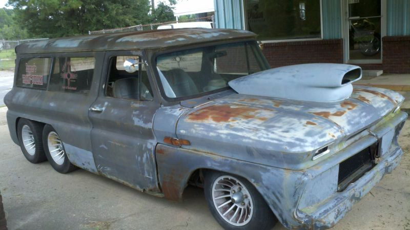 eBay Find: A Weird 1965 Chevy Suburban With An Extra Axle And A Firebird Chassis? We're Confused Too
