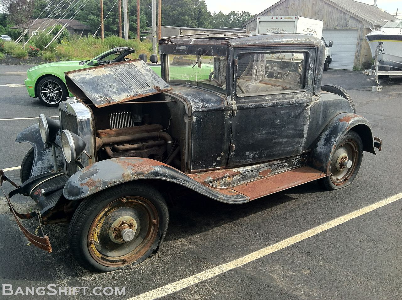 roadside find a 1929 chevy that came out of a barn and is begging for traditional. Black Bedroom Furniture Sets. Home Design Ideas