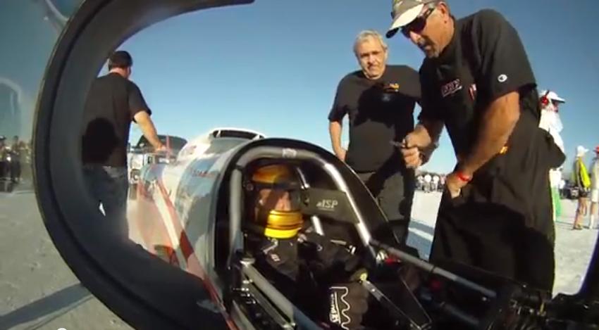 Video: Speed Demon 410mph Run At Bonneville Speed Week From The Push Truck