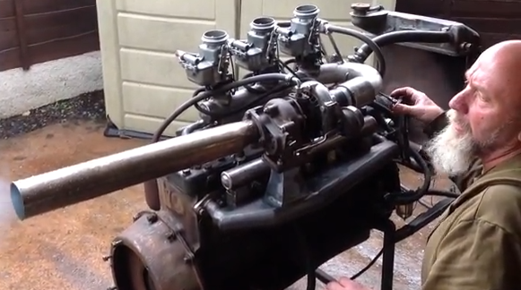 Turbo Video: Check Out A Bitchin' Old Ford Flathead Six With A Homemade Turbo Setup Fire and Run!