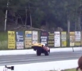 Watch Jon Wall Go On A Wild Wheelstanding Ride In The Fireball Monza Funny Car!