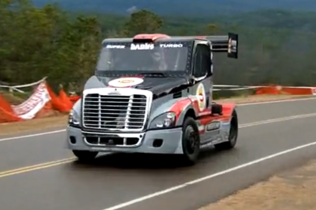 Video: This Bad Ass Video Of Mike Ryan Wrestling His Freightliner Up Pikes Peak Set Our Hearts A Flutter