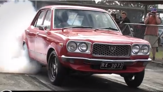 Video: Gear Jamming, Wheels Up, Crossed Up, Sideways, Drag Radial Action. Oh And It's A Mazda!