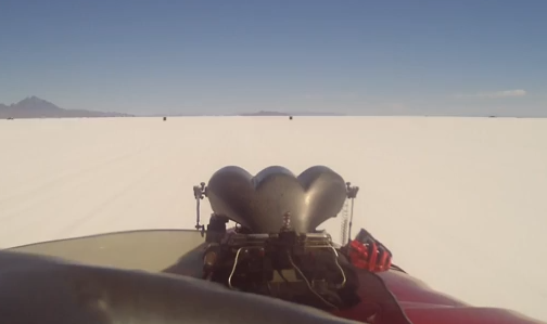 In Car Bonneville Video: Watch The Mighty Cummins, Beck, and Davidson #911 Blown Fuel Roadster Make A 295 MPH Blast!