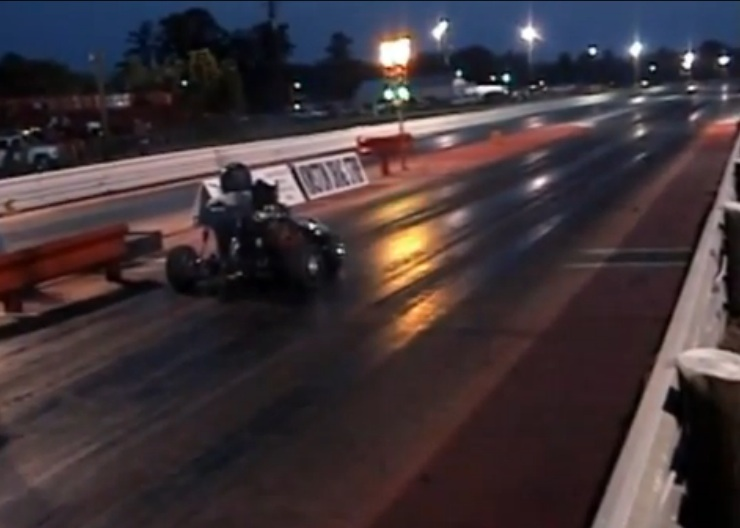 Crazy Wreck Video: Guy Crashes Go Kart Into the Christmas Tree at Kinston Drag Strip