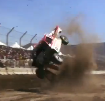 Watch A Lucas Oil Off Road Racing Series Truck Over Shoot A Jump And Endo Like A Mother!