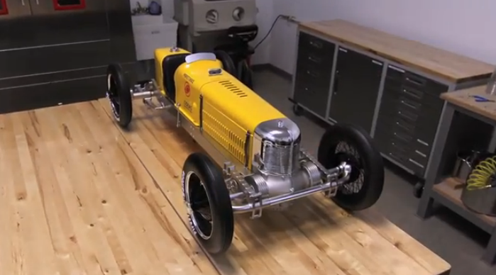Watch A Large Scale Model Of A 1927 Miller 91 Race Car Get Entirely Built Of 3D Printed Parts – Truly Amazing