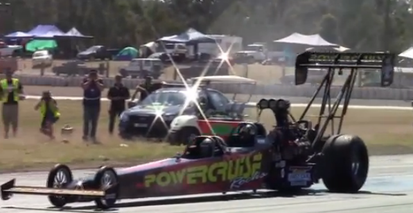 The Aussies Have A Two Seat Top Fuel Dragster – This Is Not A Flipping Drill! (Video)